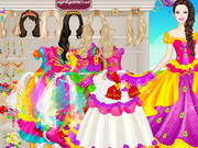 Barbie Colorful Bride Dress up