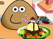 Pou Ice Cream Decoration