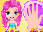 Baby Barbie Glittery Nails