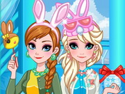 Frozen Sisters Easter Fun